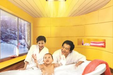 Phòng tắm an toàn và lộng lẫy cho bé